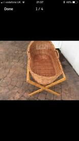 Moses basket with custom stand