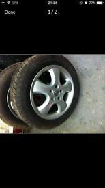 Winter Tyres c/w Vauxhall Alloys