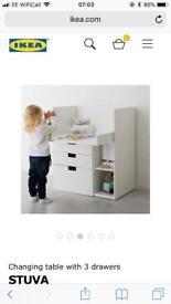 Ikea changing unit/ desk/play desk
