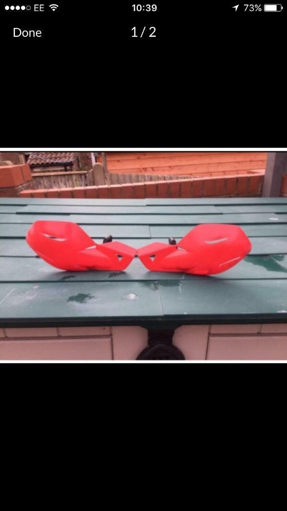 Red Motorbike Hand Guards