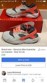 Brand new Nike Huarache trainers - various