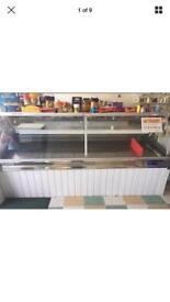 Large shop display fridge serve over counter
