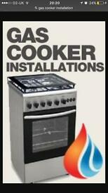 Gas cooker installations..