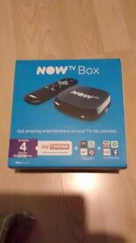 Nowtv box new boxed remote control power adaptor and instructions no pass