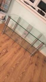 Glasss tv unit
