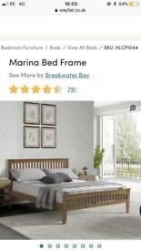 King size bed frame - new - never assembled