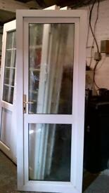 upvc door with frame 29 inches wide x 79 inches high in good condition call 07498143887