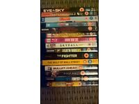 15 blu-rays DVDs (second hand)