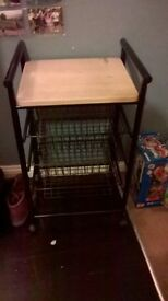 Kitchen trolley with storage trays