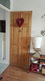 8 Pine Internal Door - 762mm Wide with handles