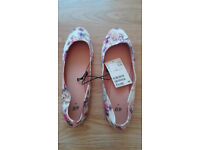 H&M womens girls balerina shoes size 5 UK ( 38 ) new with tags