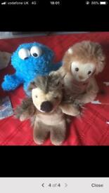 7 hand puppets for sale