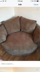 Mink cord cuddle sofa
