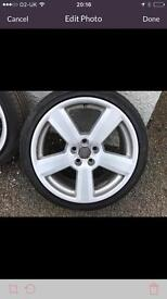 """18"""" Audi (s line) wheels and tyres."""