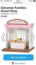 Sylvanian families cake shop brand new unboxed