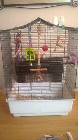 large bird cage...