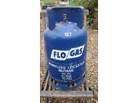 Used 13kg Flo -Gas butane gas cylinder ,still containing gas, cash and collect