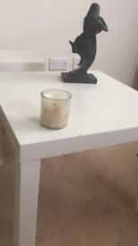 Two white side table