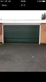 Electric roller double garage door