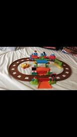 Happyland train track and figures