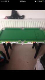 Child's snooker and pool table