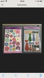 2 new hunkydory crafting card making sets butterflies ties