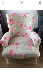 Floral shabby chic armchair