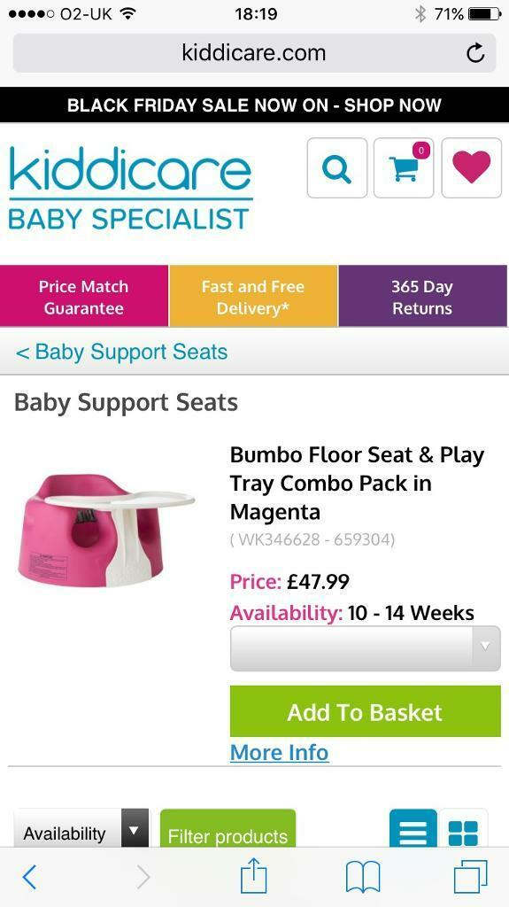 Bumbo seat with play tray BNWT & Box