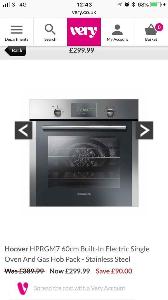 Brand new Hoover electric oven