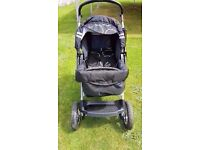 Baby Pushchair & Baby Carry-Cot – Black – BARGAIN !!!!!