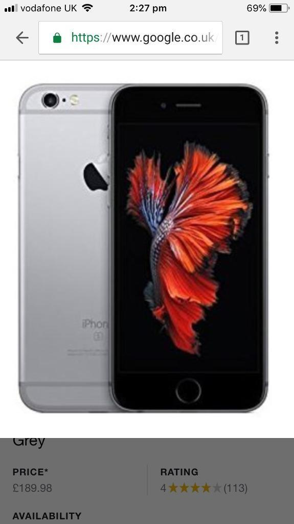 I phone 6s 32gb fully boxed good condition may part exchanged for another plus cash my way