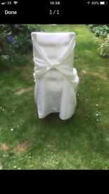 70 x satin wedding chair covers