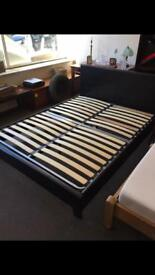 King leather bed frame only £75ono