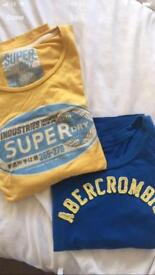 Super dry & Abercrombie size 10 women's tshirts