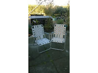3 Vintage Deck Chairs