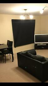 """Dark Blue Roller Blinds-Lounge Blinds 56"""" Drop x 65"""" Width - Good Quality, USED"""
