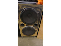 Pair of 18inch Ported Subwoofer Enclosure. Speaker Cabinet with Sound Ports