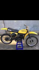 Suzuki RM125 Vintage Motocross bike