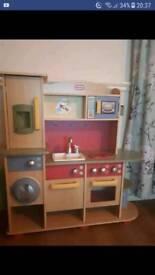Children's wooden kitchen