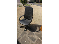Office chair high back - Matt black, adjustable £20