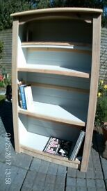 wooden shelving unit made from reclaimed wood