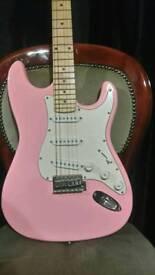 Pink nevada electric guitar