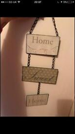 2 x hanging signs