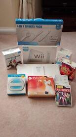 Nintendo Wii Console, MARIOKART, Balance Board, Games and Fitness software