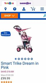 Kids smart trike dream in pink. Only used twice