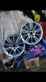 Bmw 3 sieres alloys only two 18'