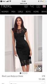 Brand new Next size 16 lace black dress
