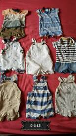 Baby boys summer bundle 0-3