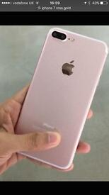 I phone 7 128gb Rose Gold