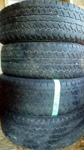 Four Firestone Destination P275 65 18 M+S tires